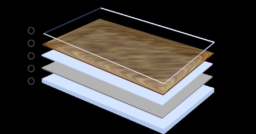 Конструкция линолеума на вспененой основе.